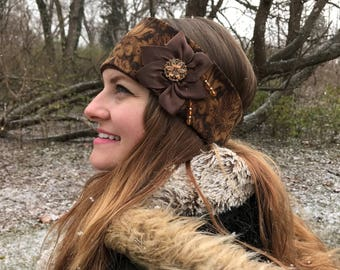 Brown Fleece Headband