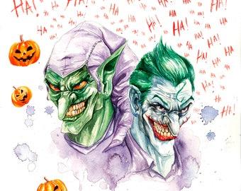 The Joker and Green Goblin