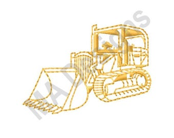 Construction Loader - Machine Embroidery Design