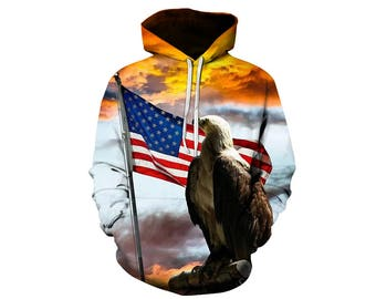 Eagle Hoodie, Eagle, Eagle Hoodies, Animal Prints, Animal Hoodie, Animal Hoodies, Eagles, Hoodie, 3d Hoodie, 3d Hoodies, Usa Hoodie Style 14