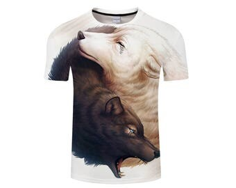 Wolf Shirt, Wolf Shirts, Wolf Tee Shirt, Wolf Tshirt, Wolves Shirt, Wolf T-shirt, Wolf, Wolves, Wolves Tshirt, Shirt, Wolf Tee - Style 12