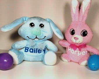 Personalized plush Easter stuffed bunny