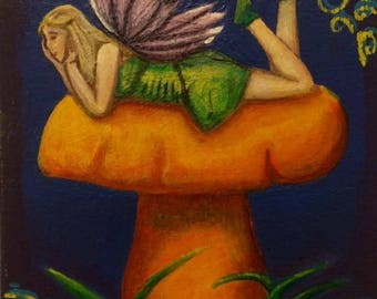Acrylic Woodland Fairy Painting