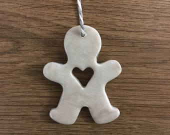 Clay Gingerbread Man Christmas Decorations