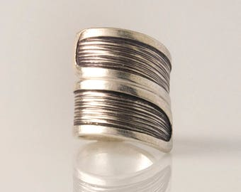 Ring silver brushed Karen Empreinte