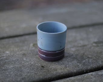 Purple and Blue Tea Cup