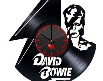 David Bowie Music Gift Vinyl Record Wall Clock