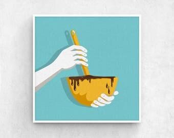 Good Bakery Art / Minimalist Art, Modern Kitchen Art, Unique Kitchen Art, Unique  Kitchen