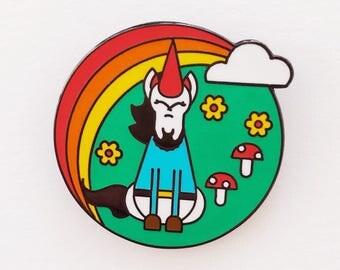 Gnomeicorn Enamel Pin