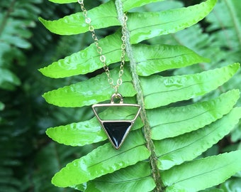 Black Triangle chain necklace