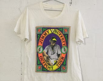 Vintage Jimmy Buffet 1991 Concert Outpost Tour Band T Shirt 90's XL