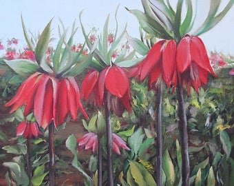 Red Reverse Tulips