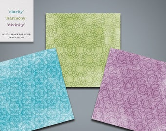 Patterned Greetings Cards (pack)