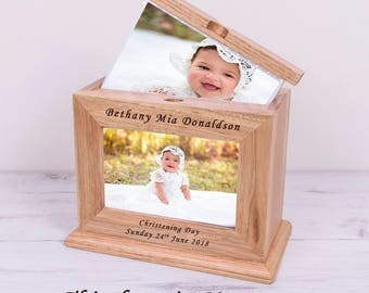 Christening Gift, Wooden Personalised Photo Album