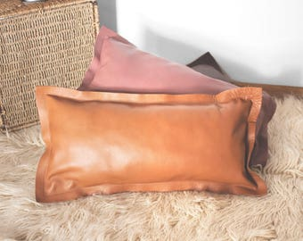 long leather pillow in camel pillows pillow cases pillow cover pillowcase