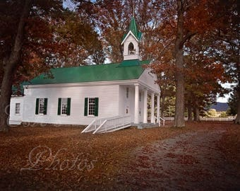 Small town church in Green Banks WV