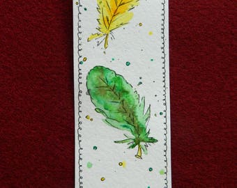 Bookmarks for books. Manual work. Watercolor.