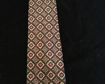 Vintage Caumont Silk Tie Made In Italy
