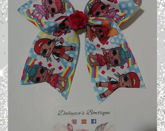 LOL Surprise doll cheer bow, lol surprise doll, lol doll cheer bow, lol cheer bow, lol surprise cheer bow, lol surprise doll bow