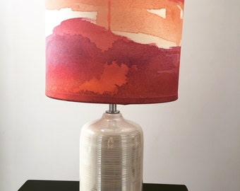 Red & Orange Watercolour Lamp