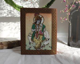 Hindu Jewelry Casket from india/jewelry box/box/tin for jewelry//