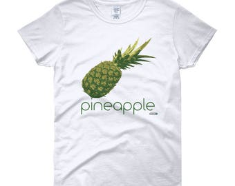 Pineapple T-Shirt - Womens - Foodie - Chef - Organic
