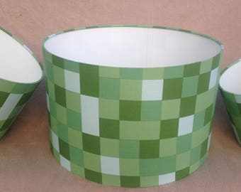 Minecraft Inspired Pixel Green Lampshade 40cm 30cm 20cm Ceiling or Floor/Table