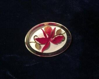 Vintage Lucite  Flower Pin