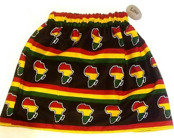 African skirt/African babygirl clothes/baby set/Newborn clothes/African clothing/Ankara skirt/Kente Fabric/Girl skirt/