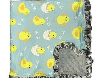 Baby Blanket Baby shower gift Minky Blanket Baby Boy Blanket Baby Girl Blanket Bird Nursery Decor New Baby gift New mom gift Gender Neutral