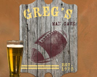 Personalized Nfl Man Cave Signs : Sports pub sign etsy