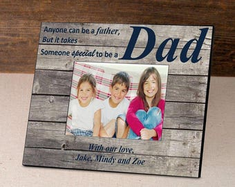 Personalized Barnwood Father's Day Frame - Father's Day Gifts - Dad Photo Frames - Father Picture Frames - Personalized Dad Picture Frames