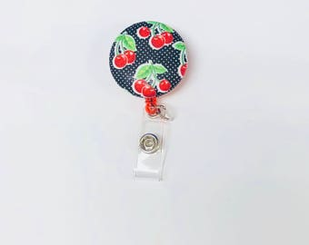 Cherry Retractable Reel Badge Holder  ID Nurse
