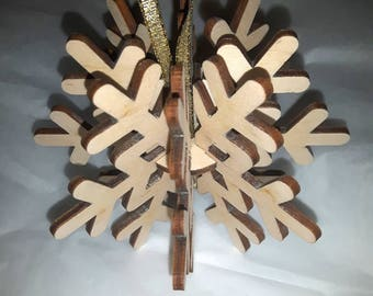 8 Point Snowflake Ornament