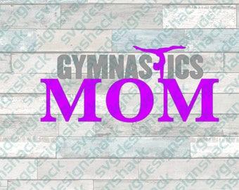 Gymnastics Mom SVG, DXF, EPS, Studio 3, Png