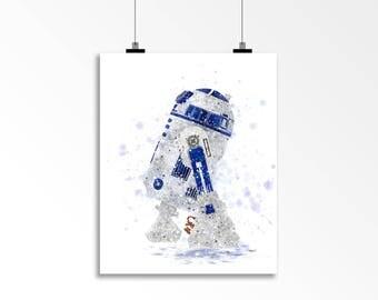 R2-D2 Star Wars Poster Print Watercolor Art Décor R2D2