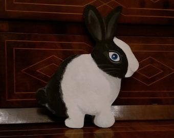 Customizable Wooden Rabbit