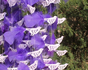Bird mobile, Feather mobile, Nursery mobile,Baby shower,Baby mobile Dreamcatcher, Room decor.