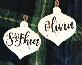 Hand Painted Custom Name Ornaments