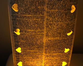 Book Themed Luminary Bags