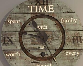 Spool wall clock