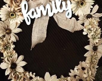 Burlap Family Wreath