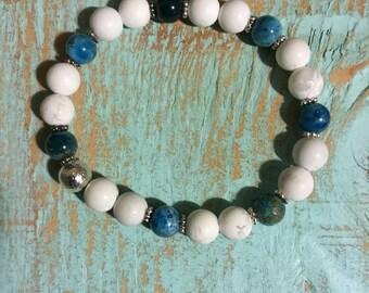 Malibu Beach-beaded gemstone bracelet