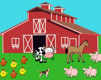 Farm Nursery Poster 18x24 Farm Nursery Decor. Farm Animals Nursery Prints. Farmhouse Nursery Decor. Farmhouse Nursery Art. Baby Farm Animals