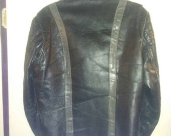 Cool 80s Cafe racer leather jacket.