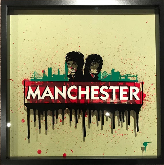 The inspired by Monopoly, Manchester music and Oasis and Gallaghers Painting