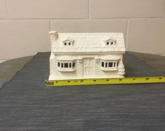 Christmas Village House - Ceramic Bisque - Ready to Paint
