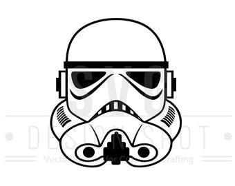 Storm Trooper Head Front SVG, Dxf, Eps, Png - Star Wars Svg Files, Star Wars Vector Graphic, Storm Trooper Front SVG File, Instant Download