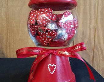 Candy dish made to look like gumball machine