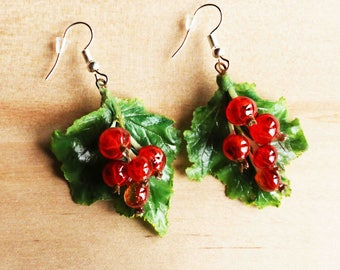 Red currant earrings
